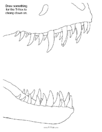 T-Rex Jaw Coloring Sheet