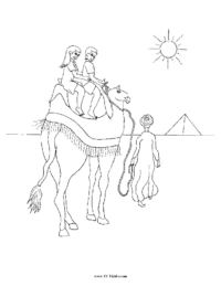 Egypt Camel Rides Coloring Page