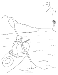 Kayak Coloring Page