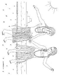 Hula Girls Coloring Page