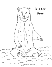 B for Bear Coloring Page