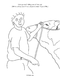 Color Yourself Careing for a Cow