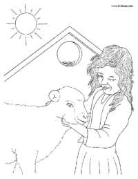 Girl with a Sheep