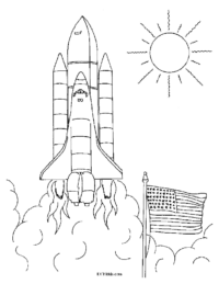 Space Shuttle Launch Coloring