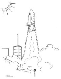 Shuttle Launch #2 Coloring Sheet