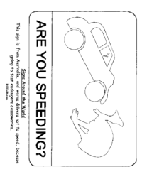Australia Speeding Sign