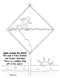 Ireland Sudden Drop-off Sign