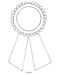 Award Ribbon Coloring Page