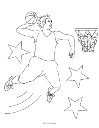 Basketball Dunk #2 Coloring Page