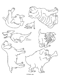 Dog Stencil Coloring Sheet