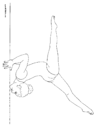 Girl on Balance Beam Coloring Page