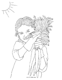 Garden Girl with Carrots