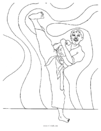 Karate Boy Coloring Page