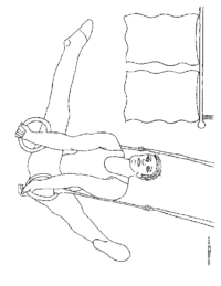 Male Gymnist Coloring Page