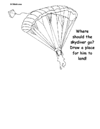 Skydiver Coloring Page