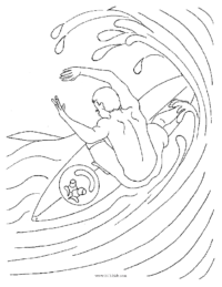 Surfer Coloring Sheet