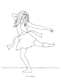 Twirling Dancer Coloring Page