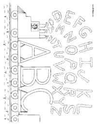 Alphabet Train Coloriing Page