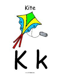 Letter K Classroom Poster